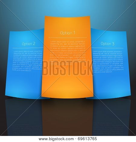 Abstract vector presentation slide