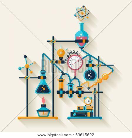 Chemistry infographic. Flat design