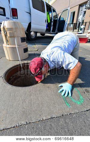 Sampling Sewage Water