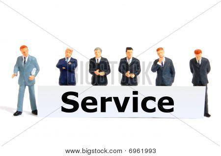 Постер, плакат: Услуги, холст на подрамнике