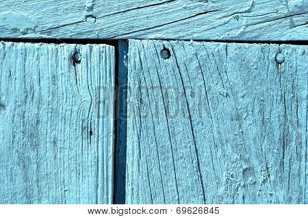 Old Grunge Weathered Blue Door