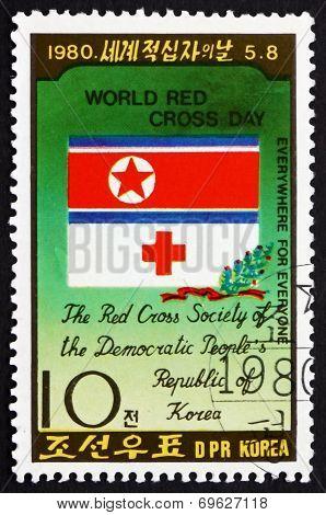 Postage Stamp North Korea 1980 Emblem Of North Korean Red Cross
