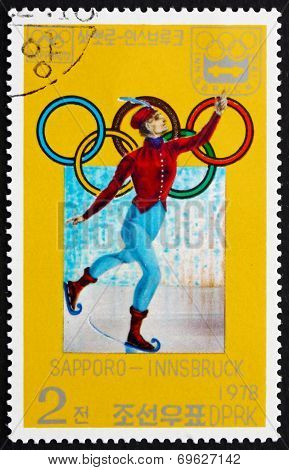 Postage Stamp North Korea 1978 19Th Century Skater