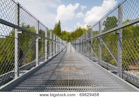 Metal Suspension Bridge