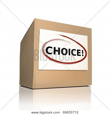 The Word Choice On A Paper Box