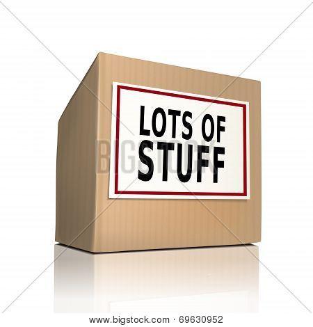 Lots Of Stuff On A Paper Box