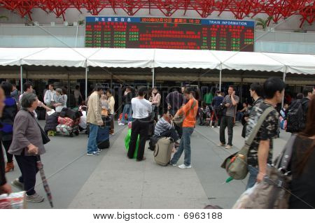 Travellers During Chinese New Year