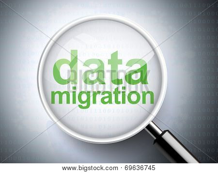 Magnifying Glass With Words Data Migration