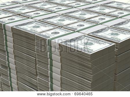 Us Dollar Notes Pile