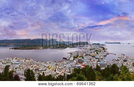 Panorama Of Alesund - Norway