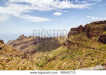 Tenerife island landscape near Masca village, Canary islands, Spain.