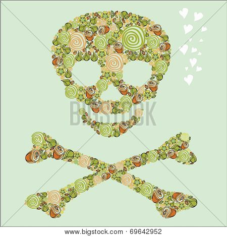 The Skull Of The Flowers