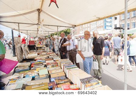 Market Booth Filled With Books