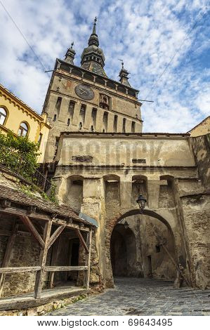Clock Tower Of Citadel Of Sighisoara, Romania