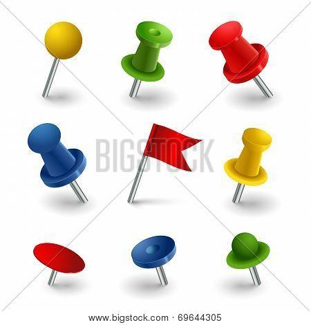 Set Colored Pins Web Elements