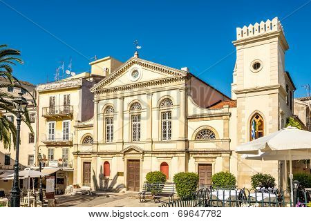 Saint Jacobs Cathedral In Old City Corfu