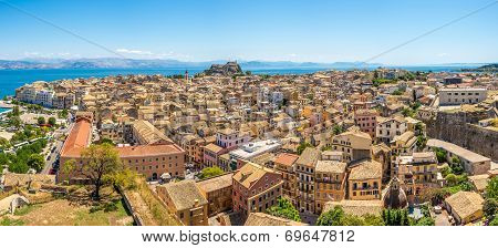Panoramic View Of Corfu City
