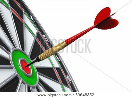 Dart on Target Close-up