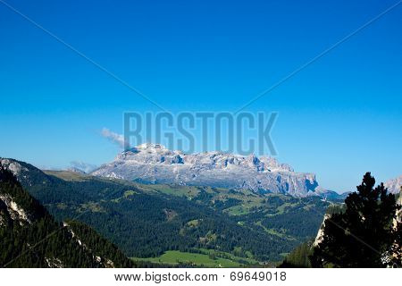 Group Of Sella In A Sunny Summer Morning, Dolomiti