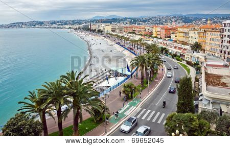 City Of Nice - Promenade Des Anglais From Above