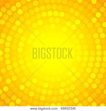 Abstract Orange Circular Technology Background,