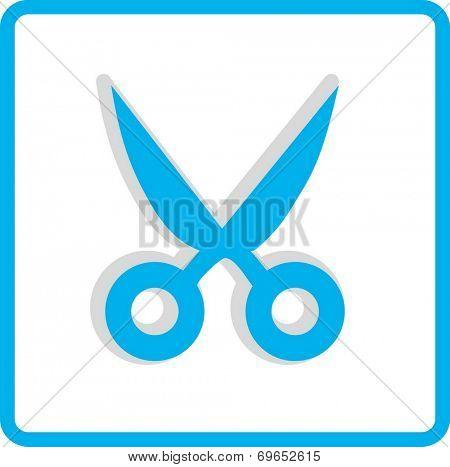 Flat Vector Cut Icon