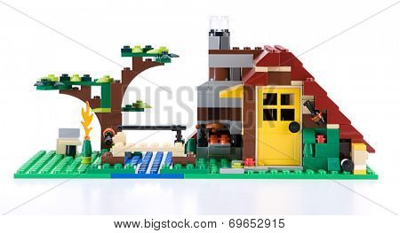 Ankara, Turkey - July 04, 2012: Lego Creator House isolated on white background