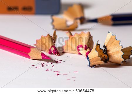 Sharpening A Red Pencil