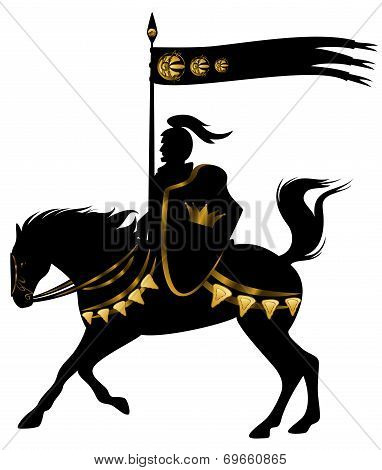Black And Gold Knight