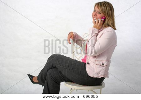 Businesss Woman On Phone