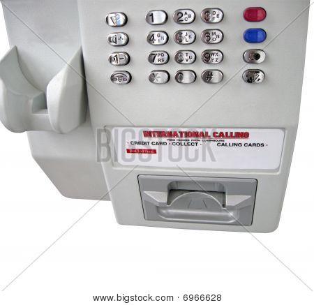 Grey street public telephone, numbers panel,macro