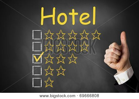 Hotel Thumbs Up Rating Three Stars