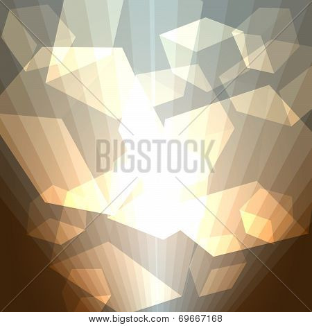 golden cubes abstract background