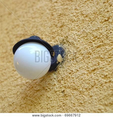 Light On A Stucco Wall