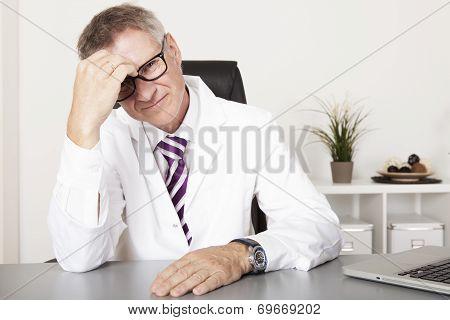 Male Doctor Not Feeling Well