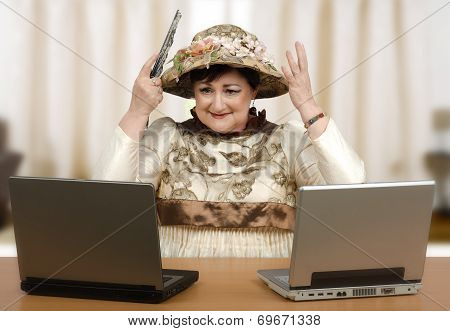 Middle Aged Woman Starting Hat Maker Business