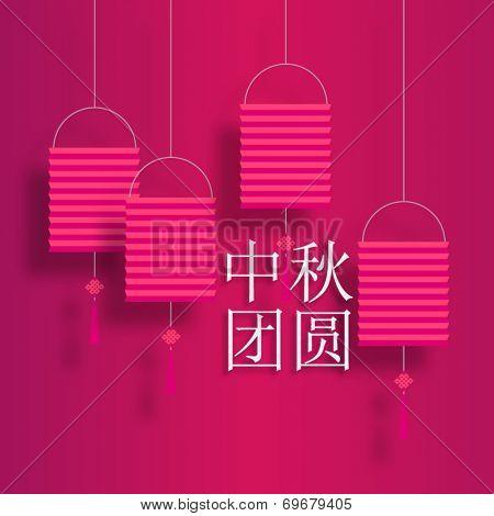 Chinese lantern mooncake festival reunion vector design