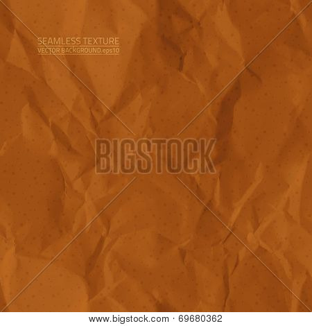 Creased Brown Paper Vector Seamless Texture