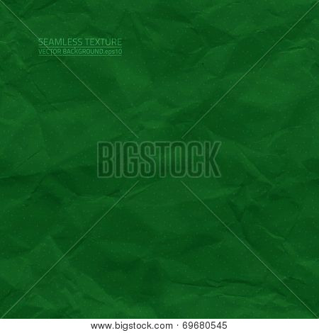 Creased Green Paper Vector Seamless Texture