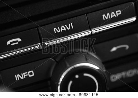Some Buttons Inside A Car