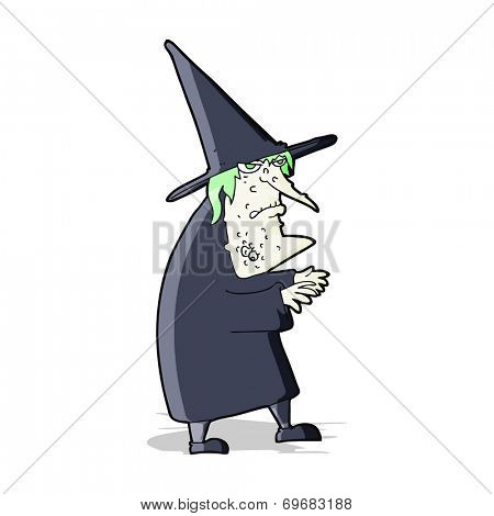 cartoon ugly old witch