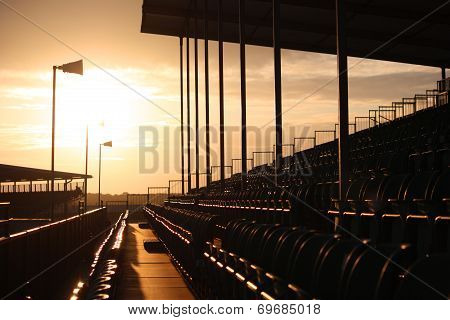Symmetrical Regular Pattern Grandstand Seating Arrangement At Sunset