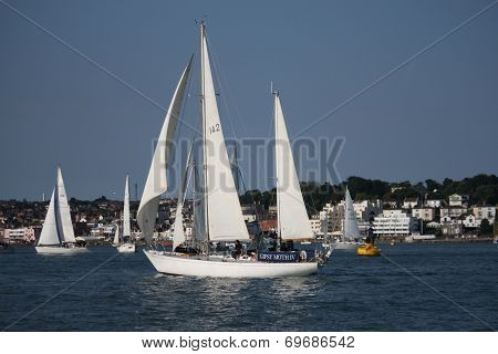 Gipsy Moth Iv Sailboat Sailing On The Solent