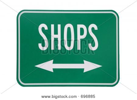 Shops  On White Background