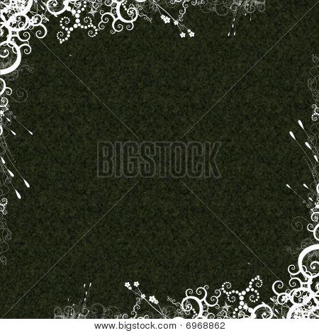 Dark Texture White Foliage