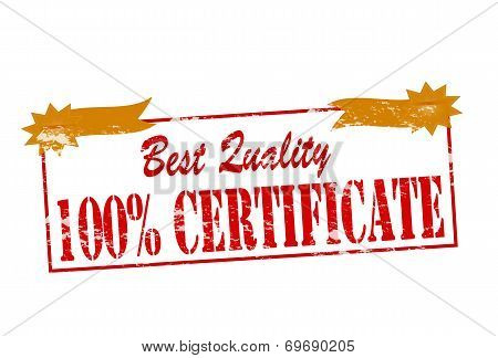Best Quality One Hundred Percent Certificate