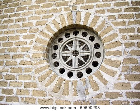Colonial Window On Wall In Mexico