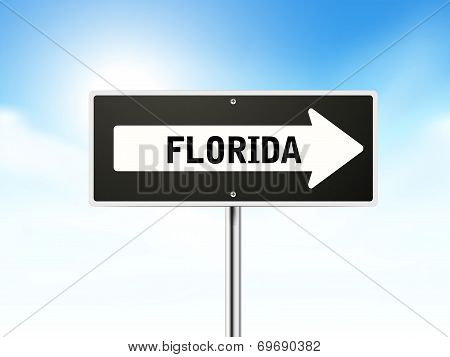 Florida On Black Road Sign