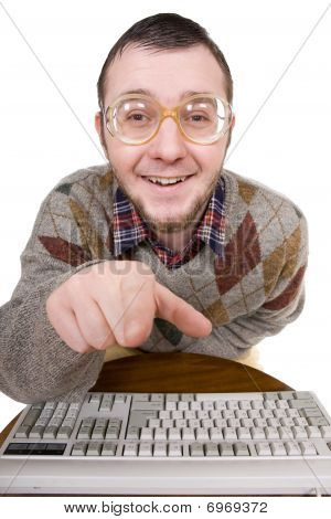 Nerd With Keyboard