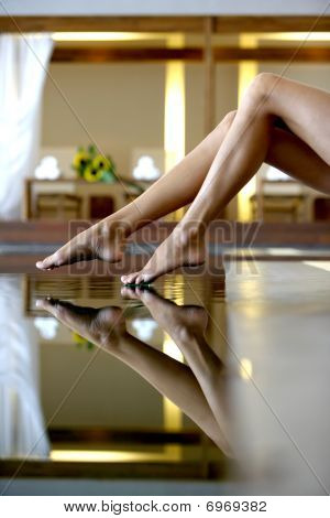 Feet Touching Water
